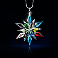 annual ornaments - Luxury Car Rearview Mirror Christmas Star Crystal Large Snowflake Ornaments Pendant and Annual Edition Car Accessories