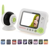 Wholesale quot Wireless Digital Baby Monitor Color LCD Two Way Talk Night Vision Audio Video Security Camera Rechargeable music