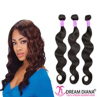 Wholesale Indian virgin hair body wave package body wave hair is human hair quot to quot Brazilian virgin hair