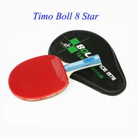 Wholesale Original Timo Boll star Table tennis rackets Rubber Carbon with bag Pingpong racket cover paddle Pimples In grip blade