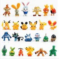 24 Estilo del empuje Pokémon calcula los juguetes 3-6cm de dibujos animados los niños multicolores Pikachu Charizard Eevee Bulbasaur Suicune PVC Mini juguete de modelo B001