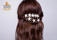 Wholesale New Fashion Pieces Wedding Bridal Bridesmaid Prom Korean Hair Accessories Silver Crystal Rhinestone Starfish Pins Comb Clips Jewelry