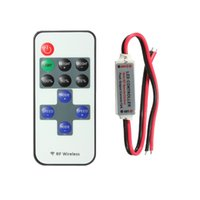Wholesale Price DC12V Keys Mini RF Wireless Remote Controller For RGB Led Single Color Strip