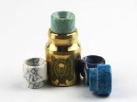 Wholesale dhl Epoxy Resin Drip Tips E Cigs Cover Caps Tip For Battle Cap AV Cap Kennedy RDA