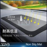 Wholesale ROCK Soft Check Grain Car Mat For Universal Mobile phone Emulsion Car Center Console Phone Non Slip Mat