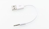 Wholesale 3 mm Jack Plug to USB charger Data Cable Audio Headphone Adapter Cord for Apple rd th th th th gen
