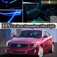 ats tuning - For Cadillac ATS Door Panel illumination Refit interior Ambient Light Tuning Atmosphere Fiber Optic Band Lights