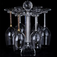 Wholesale High grade wine glass holder artificial crystal Glass rack cup holder Decoration hanging goblet rack with small diamonds