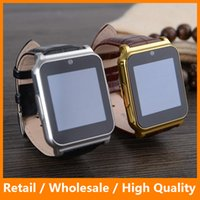 band calling cards - Newest W90 Bluetooth Smart Watch Leather Wristband Smart Watch for IOS iPhone Android Samsung Phone Smart Band Support SIM Card GPRS FM Radi