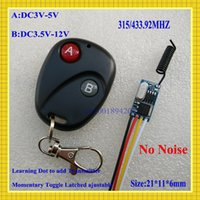 Wholesale Mos No Sound Micro Remote Switch3V V V V V V V V subminiature Small Size RF Receiver Transmitter Mini Power Remote