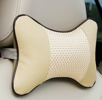 Wholesale Cotton Bone Pillow Have Cushion Comfortable Freshness Support In Car Travel Back Cushion High Quality Elight Color