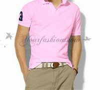 big men shirts - Fedex DHL Free Fashion Big horse polo men solid polos shirt Casual short sleeve Shirts plus size Tees Polos high quality Z206