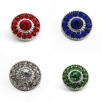 Wholesale 2016 Pack Of Color Metal Snap Buttons Charm Rhinestone Styles Button Rivca Snaps Jewelry NOOSA Chunk E635E