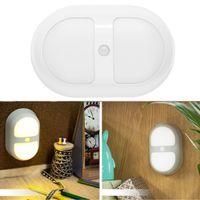 Wholesale Mini Sensitive Motion Sensor LED Light Energy efficient Wall Lamp Induction Lamp Night Cabinet WalkWay Light L0093W