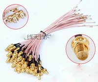 Wholesale Straight RF SMA Female Pin male to IPEX IPE U FL Connector pigtail cable CM RG178