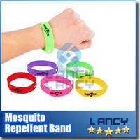 Wholesale GREEN LUCK Super Quality Mosquito Repellent Band lock on bugs genuine Camping Anti Mosquito wrist band midge bracelet Zik away band