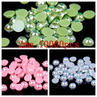 art hobby craft - 2016 New Half Round Pearls AB Colors Nails Art Decoration mm Flatback Beads For Jewelry Making DIY Crafts Decoration