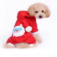 arri clothing - Fashion cute Winter Dog Pet Clothes Christmas Pet Dog Clothes Santa Claus Costume Outwear Coat Hoodie dog coats jackets winter new arri