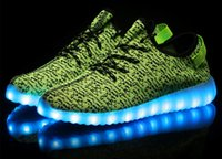Wholesale LED lights shoes colorful flash shoes USB rechargeable shoes casual shoes most fashionable lovers shoes mesh shoes