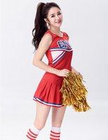 achat en gros de costume cheerleader-Gros-bichonner Sexy lycée Cheerleader Costume Cheer filles Uniforme Costume Party S M L XL 2XL