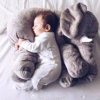 Cheap New Elephant Plush Toys dolls Elephant Stuffed Animal Toys Elephant Pillow Cushion Elephant Baby sleeping pilow 52cm Free ship 5piece