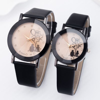 Wholesale 2016 lovers watch fashion mens women ladies love heart leather watch leisure dress quartz casal wrist watch china cheap watch