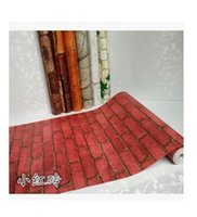 adhesive for marble - Brick red brick with white marble waterproof adhesive wallpaper from the stick against the brick wall paper print stickers f