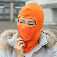balaclava face - Winter Warm Motorcycle Wind Stopper Face Mask Neck Helmet beanies Cap For Men Women Sports Bicycle Thermal Fleece Balaclava Hat