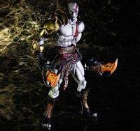 al por mayor figuras de acción de la guerra dios-Figuras de Acción JUEGO DE ARTE Kratos God of War 3 Modelo de 10 pulgadas de mano móvil Office 28CM PCV
