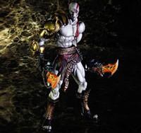 achat en gros de dieu figurines de guerre-Figurines d'action PLAY ARTS Kratos Dieu de la guerre 3 modèle de 10 pouces main mobile Bureau 28CM PCV