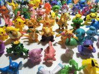 Wholesale 144 Styles Poke Action Figures Toys Cartoon Animal Mini Children DIY Toys Pikachu Model Toys for Decoration cm DHL Free