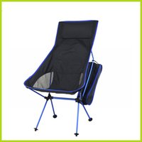 big folding chairs - New Adjust Extended Color Aluminum Frame Fishing Folding Camping Beach Chair Big Chair Moon Chair For Garden Outdoor Sports