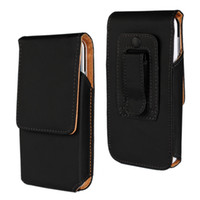 Wholesale Cell Phone Cases Pockets - Universal Vertical Leather Belt Clip Tradesman Workman Pouch Case Cover for 3.8-5.8inch cell phone