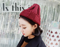 street wave board - 2016 New wave of light board knit couple fashionable Women s Hat broad brimmed solid Autumn and Winter Wool cap