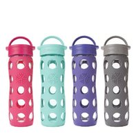 Wholesale 250ml ml ml Lifefactory Glass Water Bottle Sport Water Bottle Drop and Heat Insulation Water Bottle