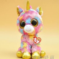 beanie collection - 2015 Hot Ty Beanie Boos Big Eyes Small Unicorn Plush Toy Doll Kawaii Stuffed Animals Collection Lovely Children s Gifts