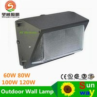 Wholesale led wall pack lighting W W lm w led retrofit kits wall pack light fixtures led shoebox light Cree led years warranty