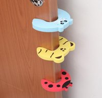 Wholesale Child safety cartoon door card security door clip stop doors Safety gates Prevent clip hand Many kinds style