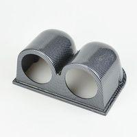 Wholesale 2 Inch Auto motor Racing Refit Instrument pods Auto gauge pods Carbon color Triple Dash mountable hose holder