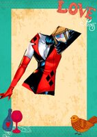 Wholesale Harley Quinn Jumpsuit type cosplay polyester dress with gloves