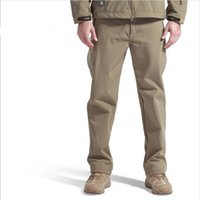 Wholesale outdoor sport tactical climbing and hiking pants for men softshell fleece fabric Instant waterproof and windproof