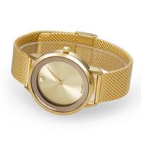 Wholesale 2016 Women Wrist Watches Brand Japan PC21 Quartz Stainless Steel Watches Waterproof Round Simple San Face Top Luxury Dress Women Brand Belbi