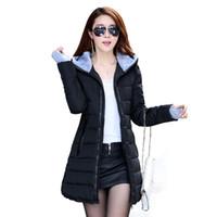 Wholesale 2016 Wadded Jacket Female New Women s Winter Jacket Down Cotton Jacket Slim Parkas Ladies Coat Plus Size M XXXL B020
