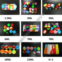 Wholesale 100pcs ml ml mini assorted color silicone container for Dabs Triangle Round Shape Silicone Containers wax