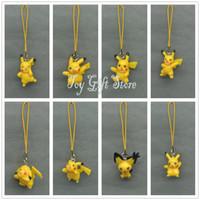 Wholesale Set Pikachu PVC Action Figure Toy Pendant New cm