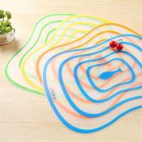 Wholesale Transparent environmental matte antibacterial plastic cutting board cut fruit chopping board