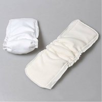 Wholesale 50Pieces Washable Nappy Changing Reusable Baby Diapers Waterproof Newborn Cloth Diaper inserts Layers Bamboo Cotton Baby Nappies