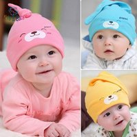 Wholesale Baby Kids New Baby Hat Autumn Winter Baby Beanie Warm Sleep Cotton Toddler Cap Kids Newborn Clothing Accessories Hat