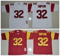anti trojan - Cheap O J Simpson USC Trojans O J Simpson Jersey Red White NCAA College football jerseys