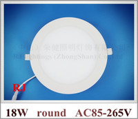 Wholesale recessed embeded install round ceiling LED panel light lamp LED downlight down light flat light W SMD led AC V